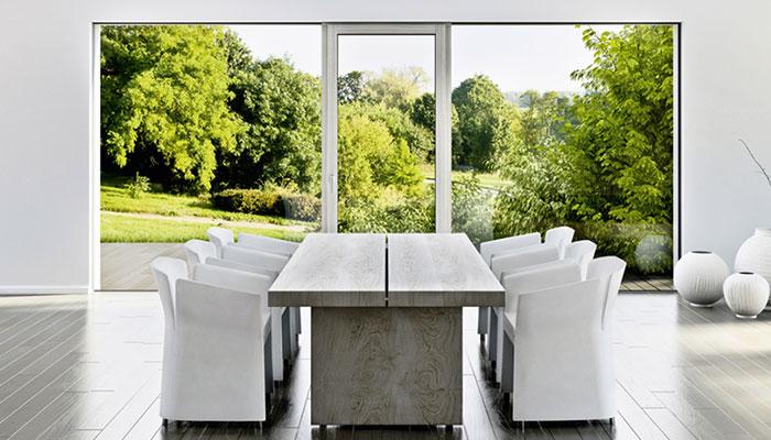 Gro�fl�chige Verglasungen, gro�e Fenster, Fensterdimensionen XL, XL-Fenster, nur Glas, Glasfenster